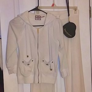 🔥NWOT Juicy Couture Snow White Track Suit, XS